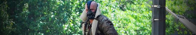 Bane on the Dark Knight Rises set