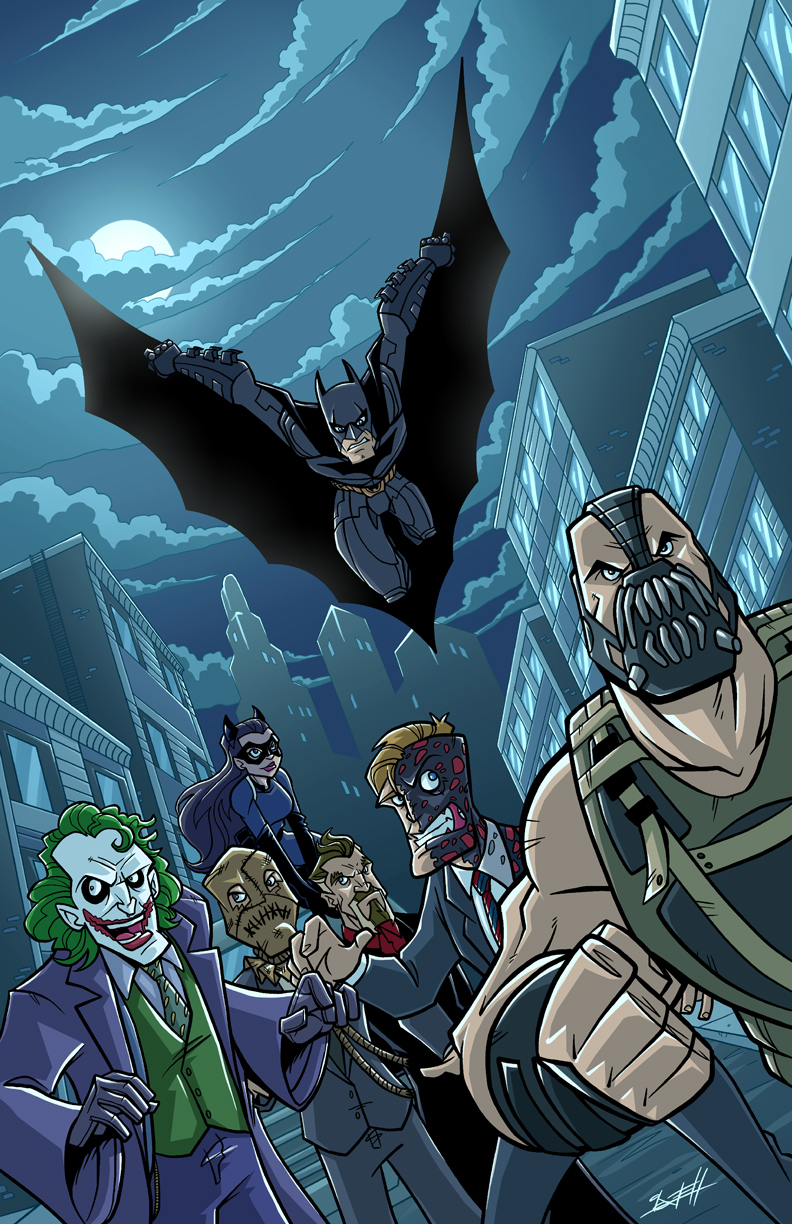 Batman Trilogy by Nate Lovett