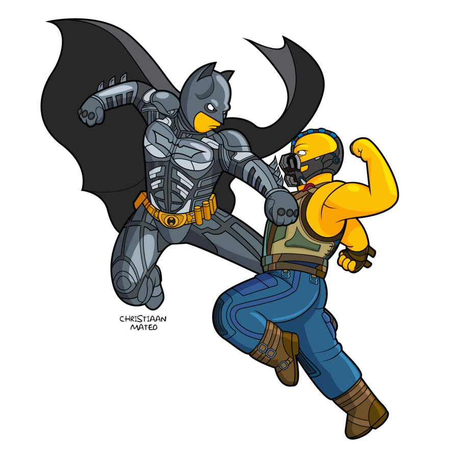 The Simpsons and The Dark Knight by Moroteo56