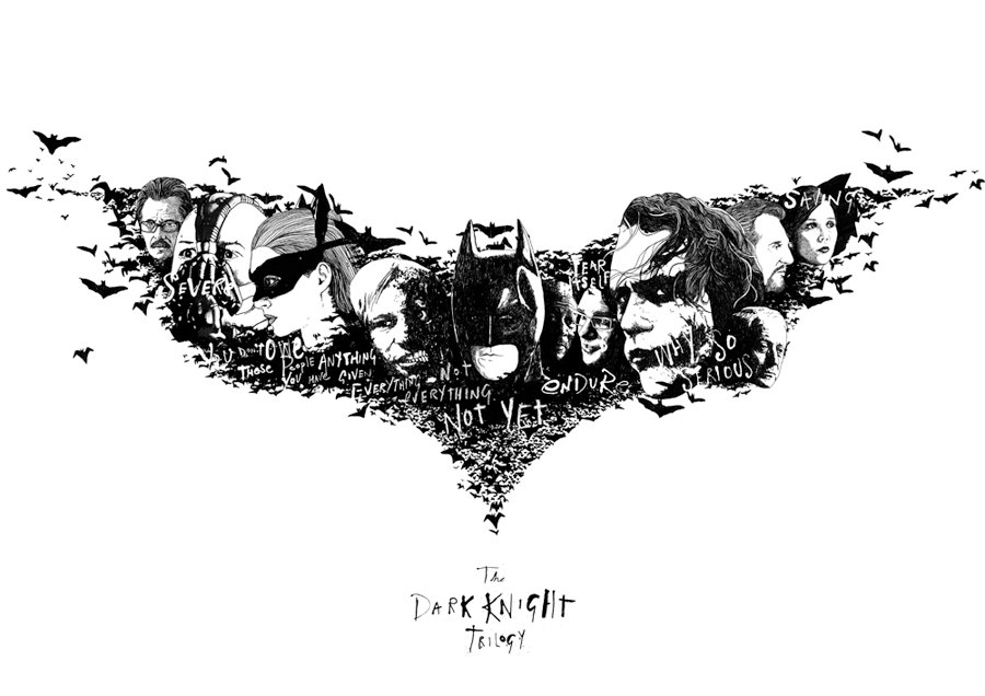 The Dark Knight Trilogy by Peter Strain
