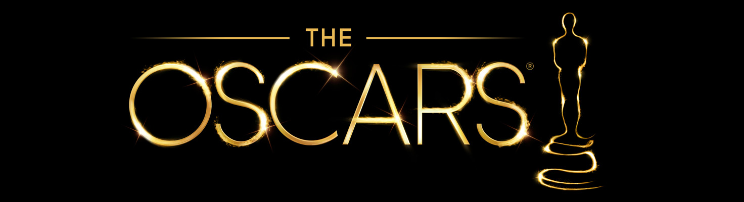 The Oscars logo; a golden male statue