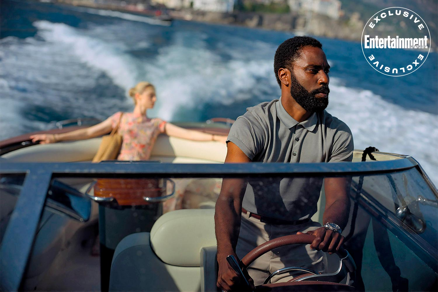 Elizabeth Debecki and John David Washington